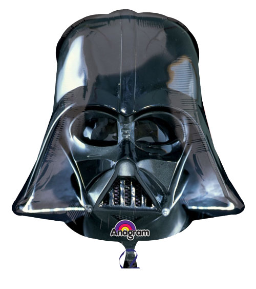 Folienballon XL Star Wars Darth Vader Maske schwarz